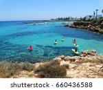 sandy beach coast in the... | Shutterstock . vector #660436588