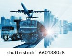 global business connection ... | Shutterstock . vector #660438058