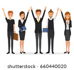 successful business people. the ... | Shutterstock .eps vector #660440020