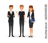 business team work people... | Shutterstock .eps vector #660440038