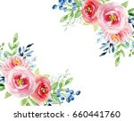 painted watercolor composition... | Shutterstock . vector #660441760