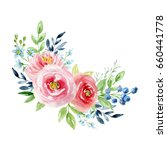 painted watercolor composition... | Shutterstock . vector #660441778