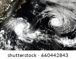 cyclone over planet earth.... | Shutterstock . vector #660442843