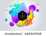 abstract digital memphis style... | Shutterstock .eps vector #660444568