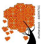 graphic tree of love with... | Shutterstock .eps vector #66044761