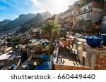 view of rocinha  the largest... | Shutterstock . vector #660449440