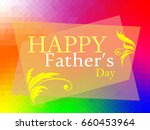happy father day.abstract... | Shutterstock .eps vector #660453964