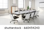 modern meeting room with... | Shutterstock . vector #660454243