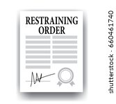 restraining order paper... | Shutterstock .eps vector #660461740