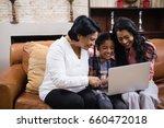 happy multi generation family... | Shutterstock . vector #660472018
