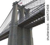 brooklyn bridge on white. 3d