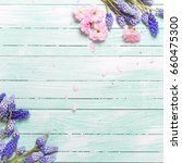 background with spring flowers. ...   Shutterstock . vector #660475300