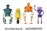 robot character. technology ... | Shutterstock .eps vector #660488440