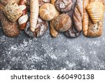 variety of delicious freshly... | Shutterstock . vector #660490138