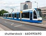tram departing from amstel... | Shutterstock . vector #660490690