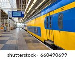 train departing from amstel... | Shutterstock . vector #660490699
