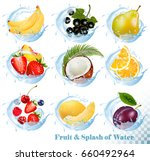 big collection of fruit in a... | Shutterstock .eps vector #660492964