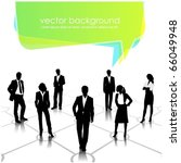 business people team with... | Shutterstock .eps vector #66049948