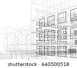 abstract architecture | Shutterstock .eps vector #660500518