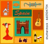 collection of spanish elements | Shutterstock .eps vector #660504754