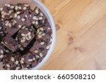 dark chocolate brownie cookies  ...   Shutterstock . vector #660508210