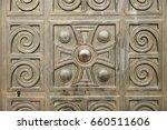 Wooden Door With Carved...