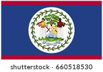 belize flag flat vector eps. 10 | Shutterstock .eps vector #660518530