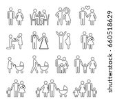 family thin line icons set in... | Shutterstock . vector #660518629