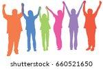 silhouette vector of happy... | Shutterstock .eps vector #660521650