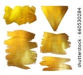 gold watercolor texture paint... | Shutterstock . vector #660530284