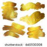 gold watercolor texture paint...   Shutterstock . vector #660530308