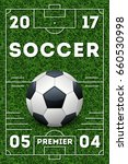 soccer poster template. banner... | Shutterstock . vector #660530998