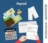 invoice sheet  paysheet or... | Shutterstock . vector #660534430