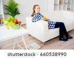 pregnant woman eating fruit | Shutterstock . vector #660538990