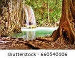 erawan waterfall to... | Shutterstock . vector #660540106