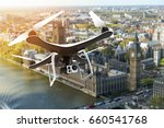 drone with digital camera...   Shutterstock . vector #660541768