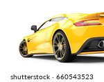 Back Of A Yellow Luxury Car...