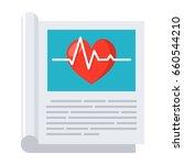 medical journal  vector icon in ... | Shutterstock .eps vector #660544210