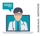 online doctor  vector...   Shutterstock .eps vector #660544318