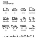 vehicles car bus truck vector... | Shutterstock .eps vector #660544819