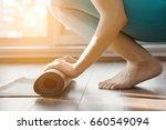 fitness woman in sports... | Shutterstock . vector #660549094
