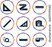 length icons set. set of 9... | Shutterstock .eps vector #660549460