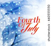 fourth of july text on... | Shutterstock .eps vector #660555550