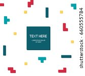 vector cyber tetris figure...   Shutterstock .eps vector #660555784