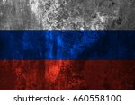 grungy russian national flag on ... | Shutterstock . vector #660558100