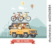 vector travel car with top... | Shutterstock .eps vector #660560884