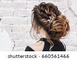 attractive young brunette woman ... | Shutterstock . vector #660561466