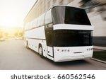 modern tourist bus on asphalt...   Shutterstock . vector #660562546