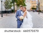 a loving couple of newlyweds... | Shutterstock . vector #660570370