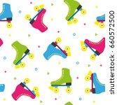 retro quad roller skates... | Shutterstock .eps vector #660572500